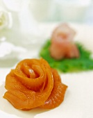 Sashimi salmon rose