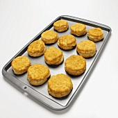 Buttermilk scones on baking tray