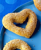 Heart Shaped Sugared Pretzels