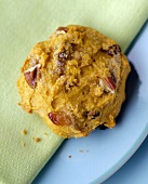 A Pumpkin Walnut Raisin Cookie