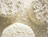 Three Ornately Decorated Wedding Cakes