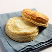 A Flaky Buttermilk Biscuit with Melting Butter