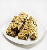Four Granola Bars on a Plate