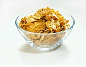 Wheat Flakes in a Glass Bowl
