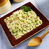 Edamame Couscous with Pine Nuts