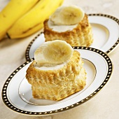 Puff Pastry Filled with Coffee Cream Cheese and Topped with Banana