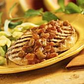 Grilled Boneless Pork Chop with Salsa