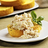 Shrimp Salad on Texas Toast with Basil