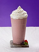 A Strawberry Shake with Whipped Cream