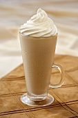 A Latte Smoothie with Whipped Cream