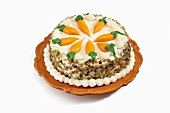 A Whole Carrot Cake with Cream