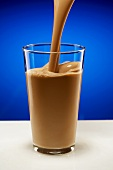 Pouring Chocolate Milk into a Glass