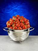 Erdbeeren im Abtropfsieb