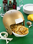 A Bowl of Chips with Football Props