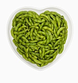 Edamame in a Heart Shaped Bowl