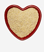 Wheat Germ in a Heart Shaped Bowl