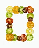 Heirloom Tomato Slices in the Shape of a Frame