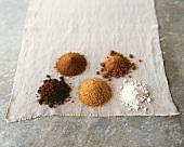 Sugar Varieties on White Linen