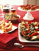 Antipasti misti (A selection of appetisers, Italy)
