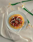 Spaghetti Squash with Tomato and Mushroom Sauce