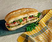 Sub-Sandwich mit Putenschinken