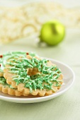A Christmas Wreath Cookie