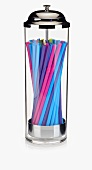 A Straw Holder with Straws