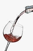 White Zinfandel Pouring into a Glass
