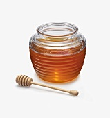 A Jar of Honey with a Server