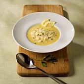 A Bowl of Lemon Rice Soup