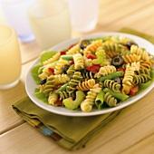 Tri-colored Fusilli Pasta Salad