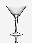 An Empty Wet Martini Glass