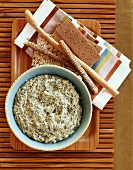 Spinach Dip with Crackers and Breadsticks