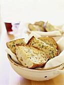 Garlic Bread in Vietri Colander
