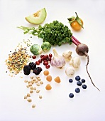 Raw Fruit and Vegetable Assortment