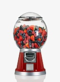Mixed Berries in a Candy Dispenser