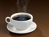 A Steaming Cup of Black Coffee