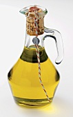 A Carafe of Olive Oil with Cork Stopper