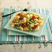 Fusilli Pasta Salad with Edamame and Bell Peppers