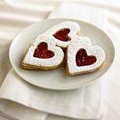 Heart Shaped Linzer Cookies