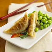 Potstickers with Edamame