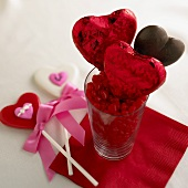 Cinnamon Hearts and Chocolate Lollipops for Valentine's Day