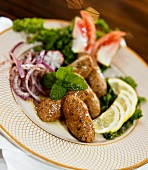 Raw Kibbeh with Red Onion, Mint and Lemon (Lebanese)