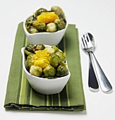 Brussel Sprout and Orange Salads