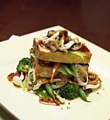 Tofu with Stir Fried Vegetables