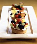 Three Mixed Fruit Tartlets