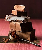 A Chocolate Stack and Scoop of Cocoa