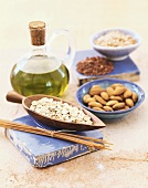 Oats, almonds and oil