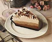 Three layer chocolate mousse pie