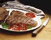 A Grilled T-Bone Steak